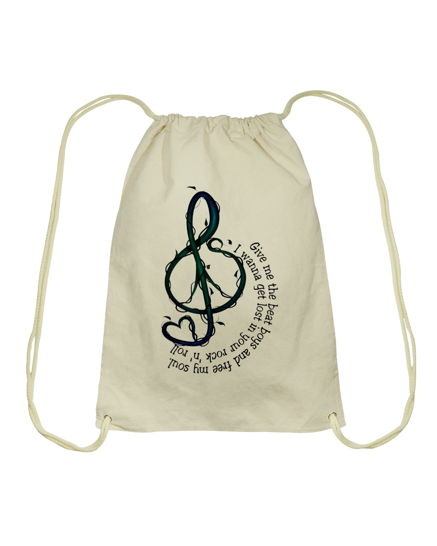 Rock And Roll Peace Love Music Hippie  Drawstring Bag