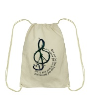 Rock And Roll Peace Love Music Hippie  Drawstring Bag thumbnail