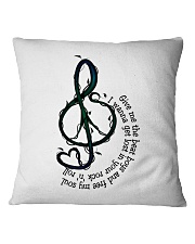 Rock And Roll Peace Love Music Hippie  Square Pillowcase thumbnail
