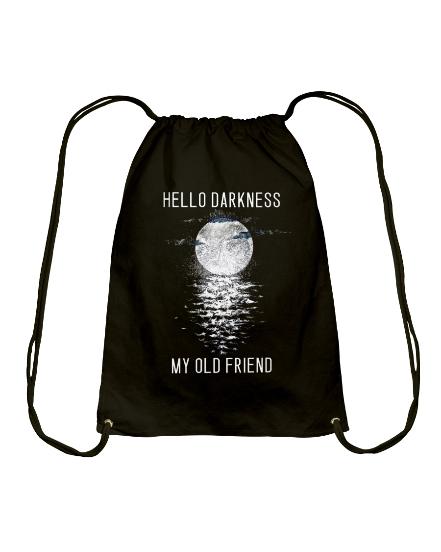 Hello Darkness My Old Friend Drawstring Bag