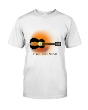 Peace Love Music 1 Classic T-Shirt front