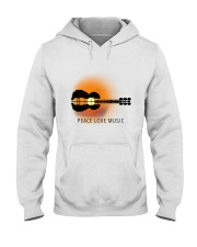Peace Love Music 1 Hooded Sweatshirt tile