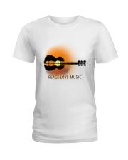 Peace Love Music 1 Ladies T-Shirt thumbnail