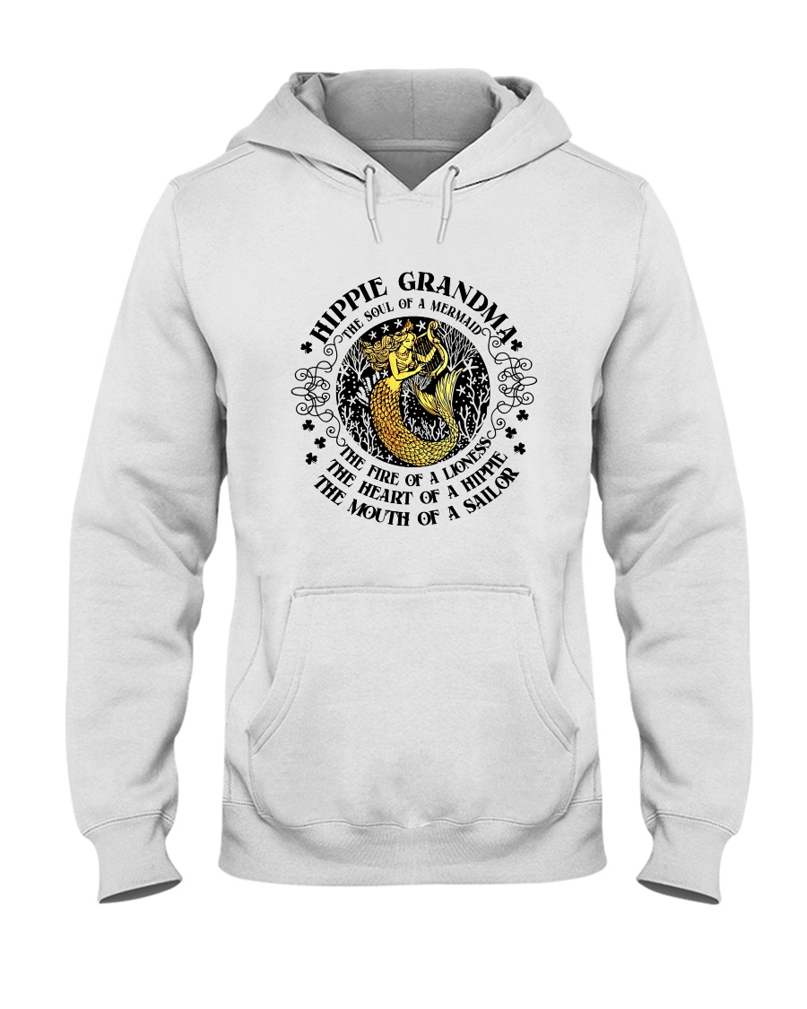 Hippie Grandma Hooded Sweatshirt