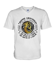 Hippie Grandma V-Neck T-Shirt thumbnail