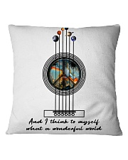 Myself What A Wonderful World Square Pillowcase tile