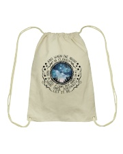 When The Night Is Cloudy Drawstring Bag thumbnail