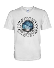 When The Night Is Cloudy V-Neck T-Shirt thumbnail