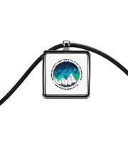 When The Night Is Cloudy Cord Rectangle Necklace thumbnail