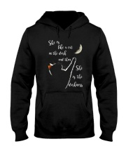 She Is Like A Cat In The Dark Hooded Sweatshirt front