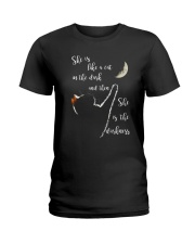 She Is Like A Cat In The Dark Ladies T-Shirt thumbnail