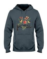 Peace Flowers Hippie  Hooded Sweatshirt thumbnail