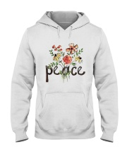 Peace Flowers Hippie  Hooded Sweatshirt thumbnail