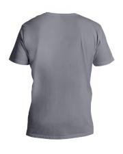 Peace Flowers Hippie  V-Neck T-Shirt back