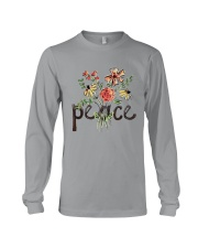 Peace Flowers Hippie  Long Sleeve Tee front