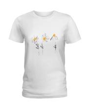 Let It Be Flowers Ladies T-Shirt thumbnail