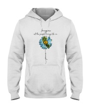 Imagine People Living Life In Peace Hooded Sweatshirt front