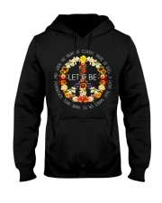 Let It Be Fowers Music Hippie  Hooded Sweatshirt front