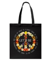 Let It Be Fowers Music Hippie  Tote Bag thumbnail