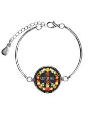 Let It Be Fowers Music Hippie  Metallic Circle Bracelet front