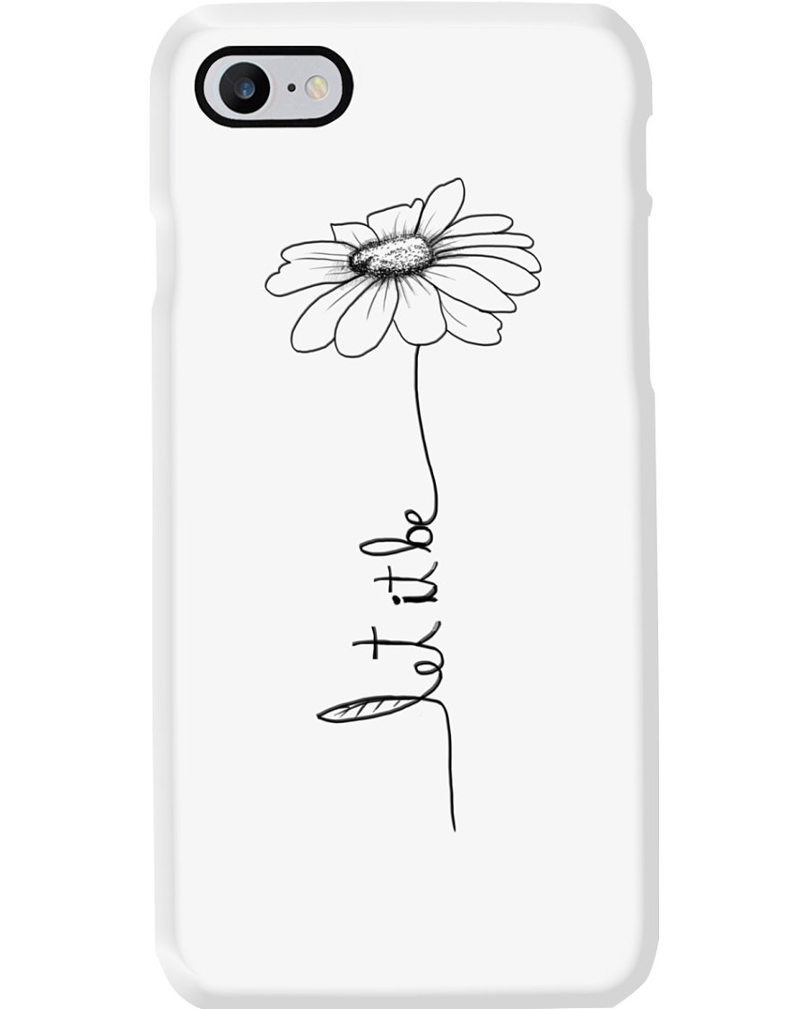 Let It Be Flower Hippie Music  Phone Case