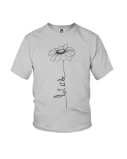 Let It Be Flower Hippie Music  Youth T-Shirt thumbnail