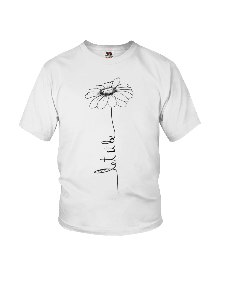 Let It Be Flower Hippie Music  Youth T-Shirt