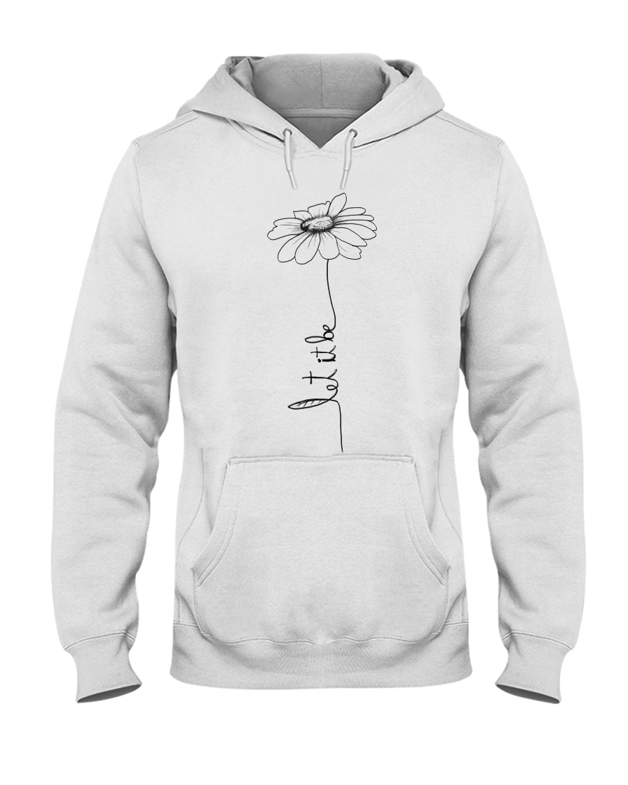 Let It Be Flower Hippie Music  Hooded Sweatshirt