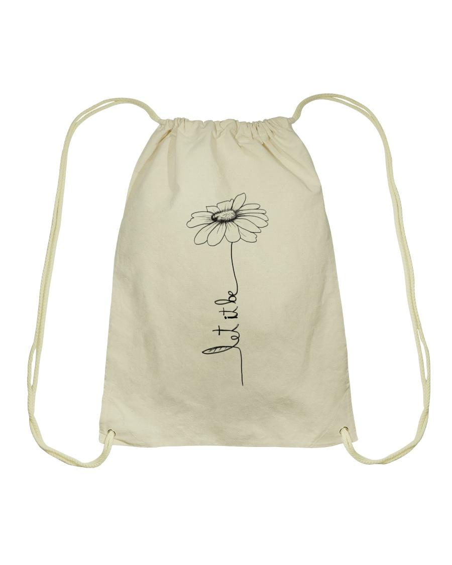 Let It Be Flower Hippie Music  Drawstring Bag