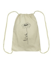 Let It Be Flower Hippie Music  Drawstring Bag thumbnail