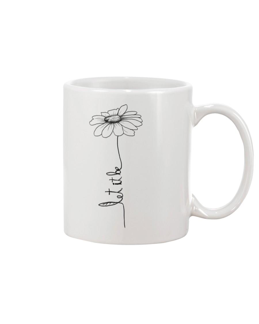 Let It Be Flower Hippie Music  Mug