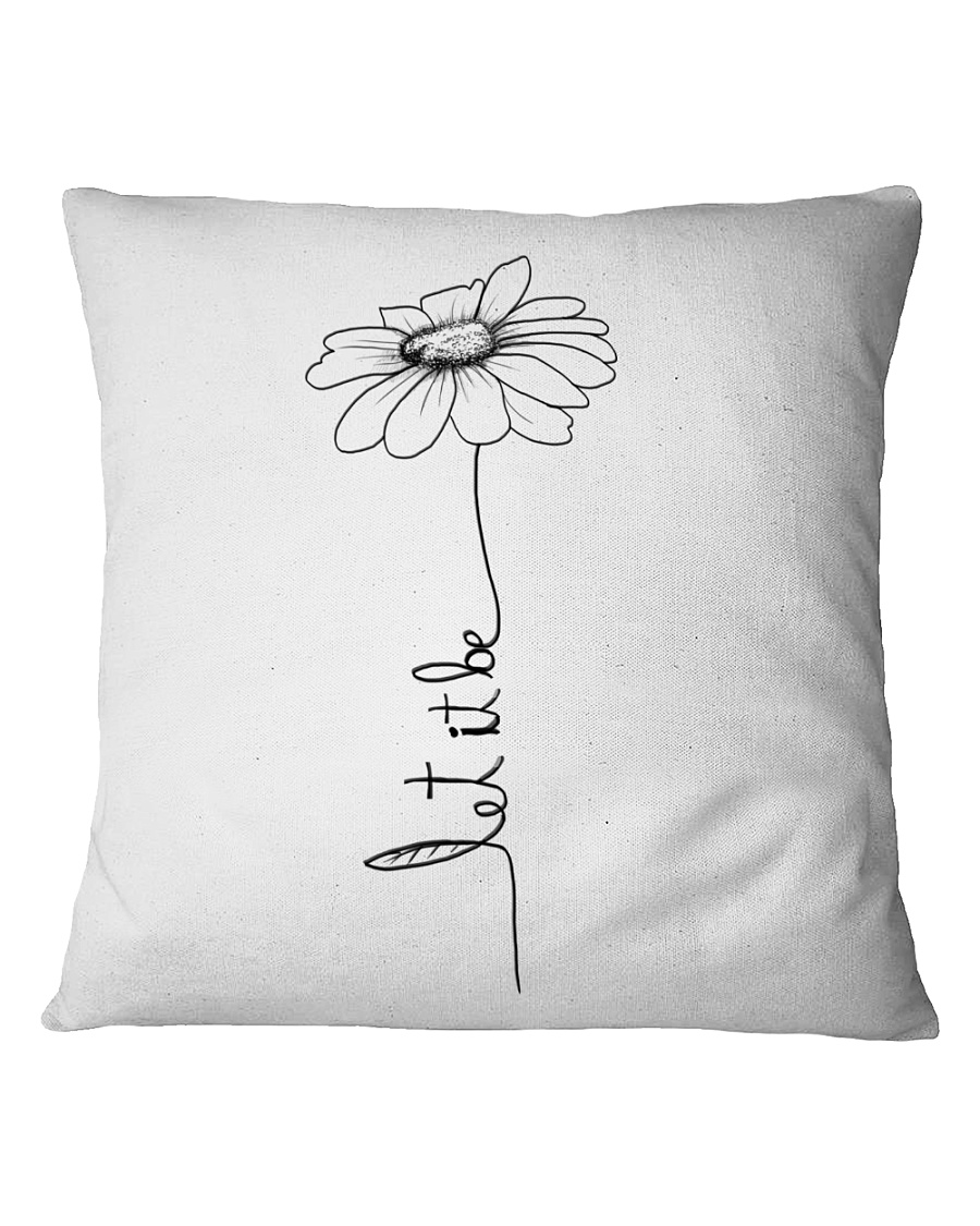 Let It Be Flower Hippie Music  Square Pillowcase