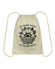You Belong Among The Wildflowers Drawstring Bag thumbnail