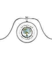 Myself What A Wonderful World Metallic Circle Necklace thumbnail