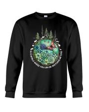 Be Kind In A World Crewneck Sweatshirt thumbnail