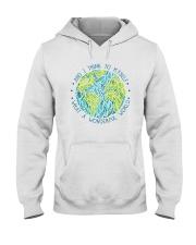 Myself What A Wonderful World Hooded Sweatshirt front