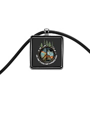 Myself What A Wonderful World 1 Cord Rectangle Necklace thumbnail