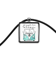 You May Say Im A Dreamer Cord Rectangle Necklace thumbnail