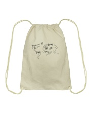 All The People Living In Peace Drawstring Bag thumbnail