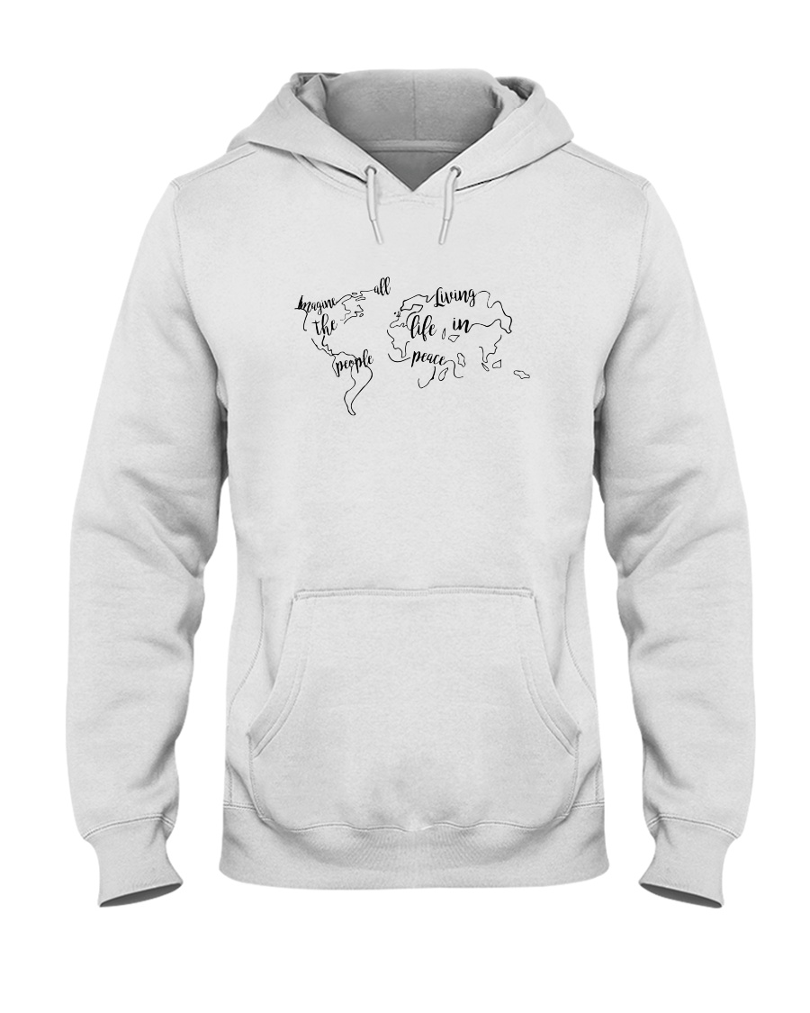 All The People Living In Peace Hooded Sweatshirt