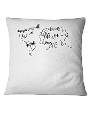 All The People Living In Peace Square Pillowcase thumbnail