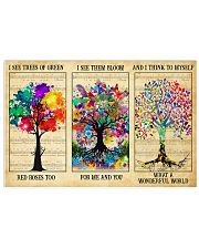 I See Trees Of Green 17x11 Poster front