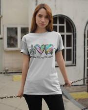 Peace Love Hippie Classic T-Shirt apparel-classic-tshirt-lifestyle-19
