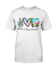 Peace Love Hippie Classic T-Shirt front
