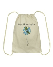 People Living Life In Peace Drawstring Bag tile