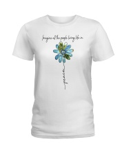 People Living Life In Peace Ladies T-Shirt tile