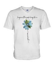 People Living Life In Peace V-Neck T-Shirt tile