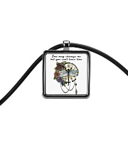 Time May Change Me Cord Rectangle Necklace thumbnail