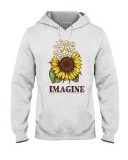 Imagine Flowers Hippie Hooded Sweatshirt thumbnail