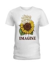 Imagine Flowers Hippie Ladies T-Shirt tile